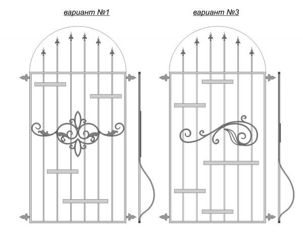 Варианты арочных оконных решеток