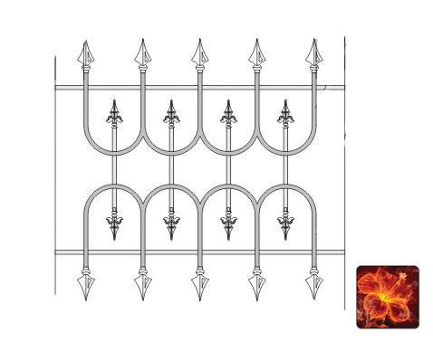 Цокольная кованая решетка