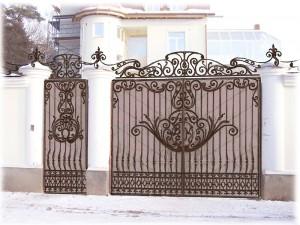 Ворота и калитка кованая