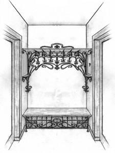 Кованая мебель декор интерьера прихожая