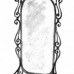 Кованая мебель зеркало