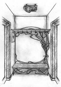 Кованая мебель прихожая