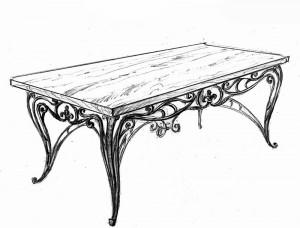 Кованая мебель стол