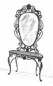 Кованая мебель трюмо