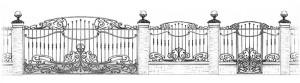 Кованые ворота и ограда