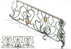 Ковка ограждение лестницы