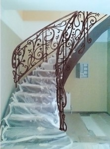 Лестница ковка перила