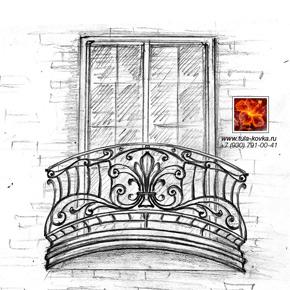 эскизы красивые кованые балконы