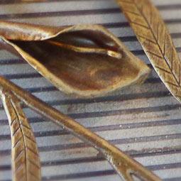Патина золотая бронза по коричневому цвету WS-Plast